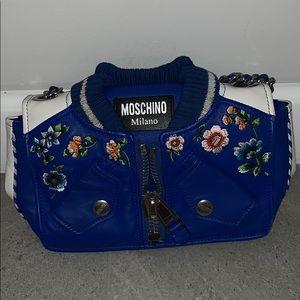 Moschino flower blue bag